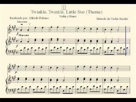 Suzuki Twinkle Twinkle Partitura Twinkle Twinkle Theme N 186 1 Violin Y