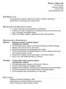Exles Resumes by Resume Sle For An Administrative Assistant Susan Ireland Resumes