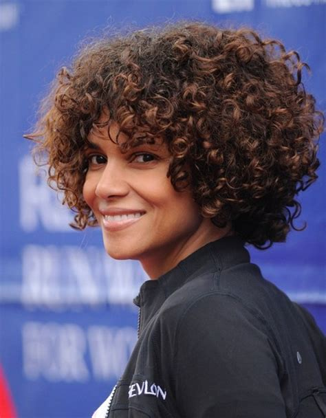 short weave hairstyles for rihanna and haille berry halle berry now rocking chin length curls are you feeling