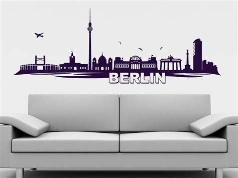 berlin wandtattoo wandtattoo skyline berlin bei homesticker de