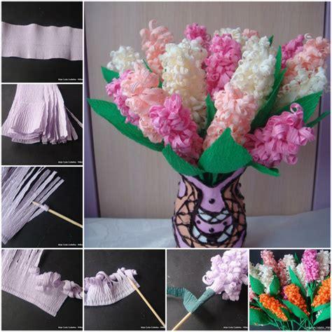 bloem maken als surprise hyacinth van crepepapier hobby blogo nl