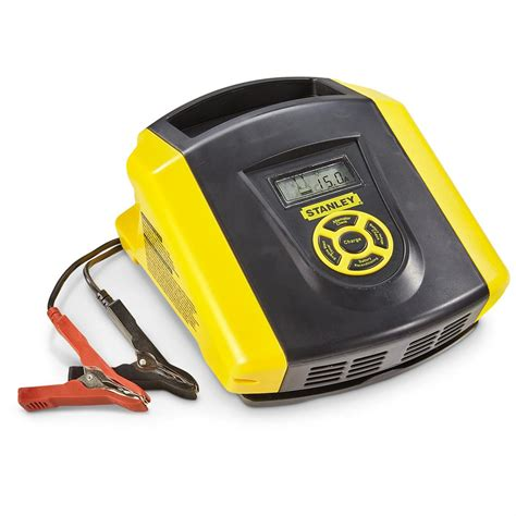 stanley airpressor and battery charger stanley 15a battery charger 655440 chargers jump