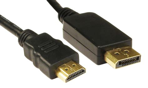 displayport to tv 3m display port dp to hdmi cable pc monitor lead ebay