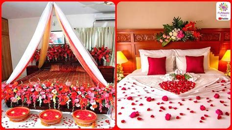 Romantic Wedding Marriage Room Decoration Ideas    Bridal