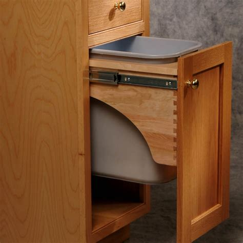 pull out cabinet trash can trash can pull out