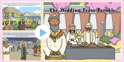 Wedding At Cana Powerpoint Ks1 by The Wedding Feast Parable Powerpoint Parables Wedding Feast