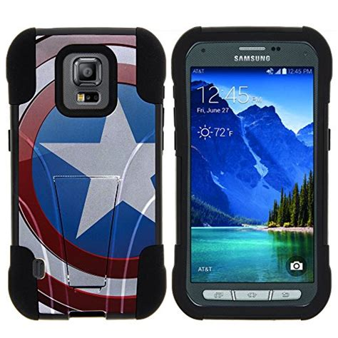 Bumper Heavy Armor Soft Cover Casing Samsung Galaxy Note 2 captain america phone cases