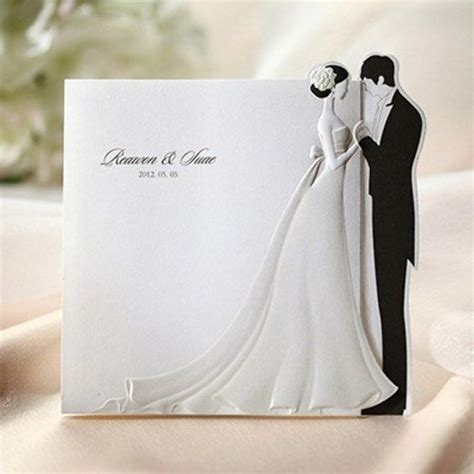 wedding invitations pictures groom 50sets groom wedding invitations cards envelopes