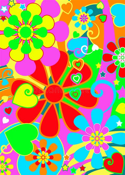 fiori hippy hippie chic flower power stock illustration illustration