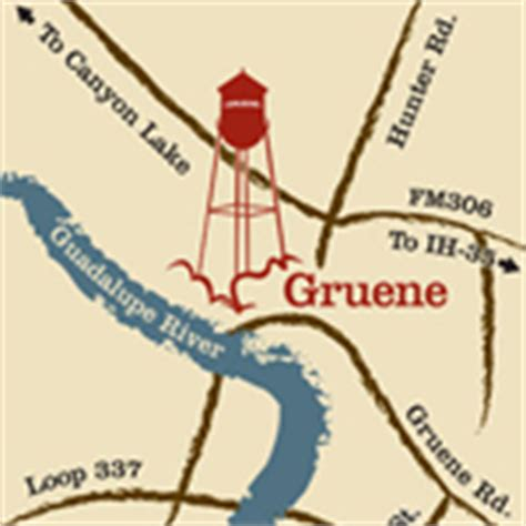 map of gruene texas gruene market days