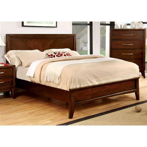 shop furniture of america bellefonte brown cherry queen sleigh bed furniture of america bryant queen platform panel bed in