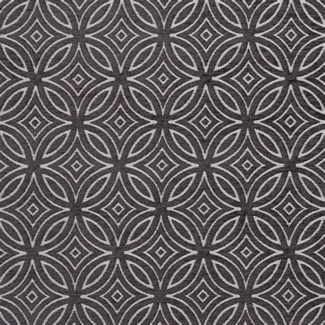 Black Chenille Upholstery Fabric by B0810e Black And Silver Woven Geometric Chenille
