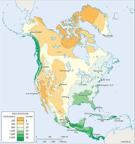 america rainfall map america average annual precipitation students