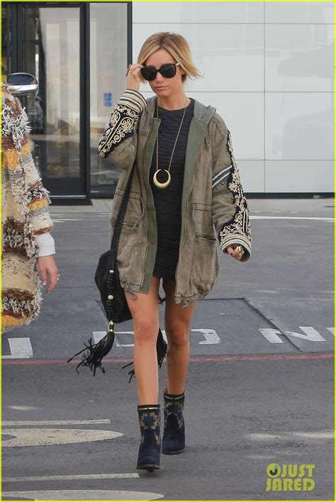 Hudgens And Tisdale Go Shopping Carrying Chanel And Balenciaga Bags by Tisdale Shopping At Chanel Photo