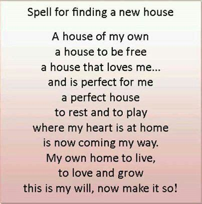 spell appartment spell to get a house witchy stuff spells pinterest