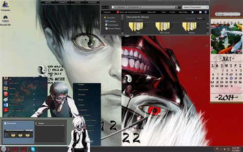 themes for windows 7 tokyo ghoul tokyo ghoul custom windows 7 theme with ying yang