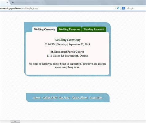 Wedding Organizer Website by Our Wedding Agenda Wedding Website