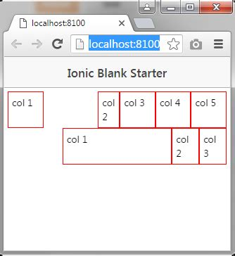 ionic grid tutorial source code aplikasi membuat offset column pada ionic
