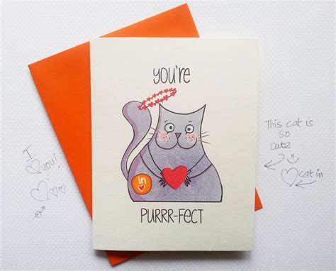 card ideas for him cat purrfect card i you card anniversary