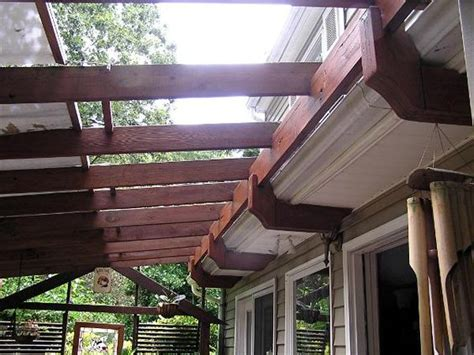 how to attach pergola to house finally a way to attach a pergola to our house w out