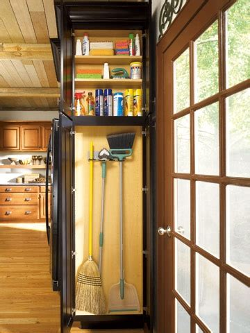The Broom Closet Ending by Cleaning Cabinet Built In To The End Of A Cabinet