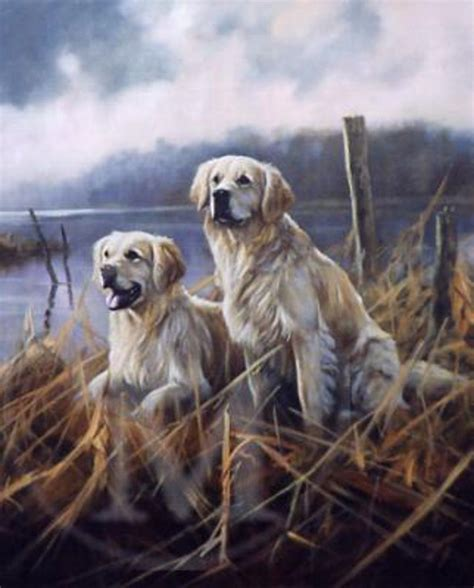 sally s golden retrievers golden moments golden retriever print by trickett