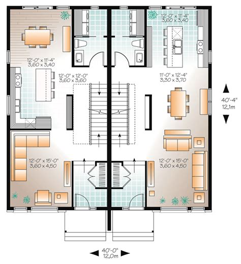 multi family homes plans multi family plan 76178 at familyhomeplans com