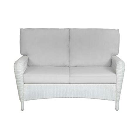 martha stewart charlottetown loveseat martha stewart living charlottetown white all weather