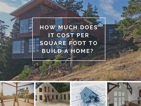 cost to build a new home how much does it cost per square foot to build a home