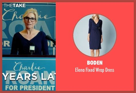 Charle Roan elizabeth mitchell boden fixed wrap dress from the purge election year thetake