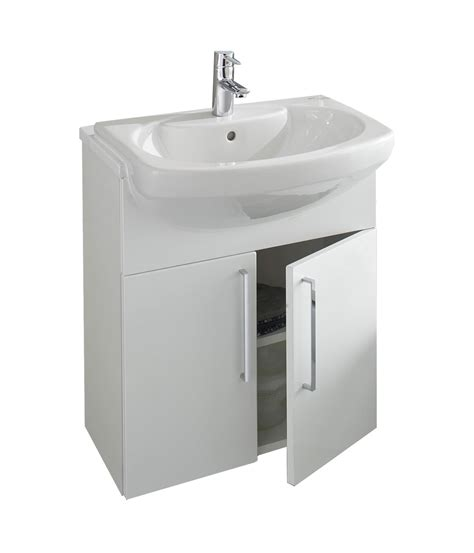 Roca Sink Unit by Roca Smooth Semi Recessed Basin Unit 580mm With Plinth