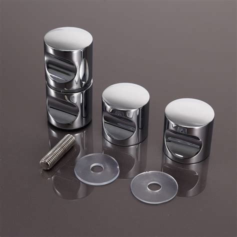 Shower Door Knobs 2 X Shower Door Handles Knobs Chrome Plated Cone Shaped Ebay