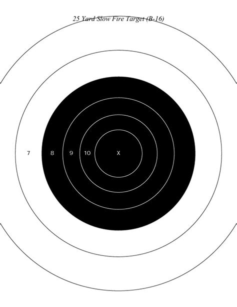 Printable Nra Targets | silver city gun club targets
