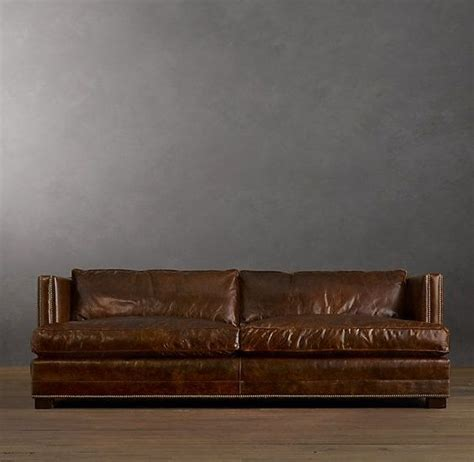 restoration hardware easton sofa leather sofa leather sofa from