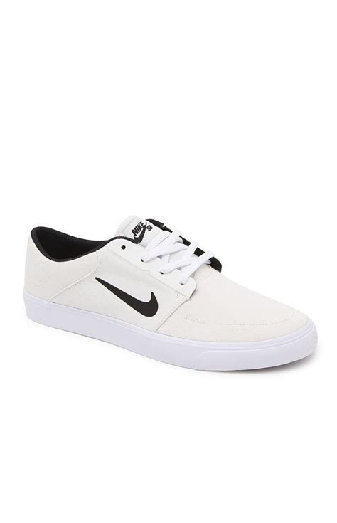 white nike sneakers mens nike sb portmore canvas shoes mens from pacsun sneakers