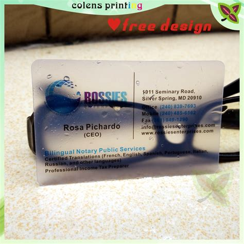 card supplies free delivery custom business card printing plastic transparent pvc