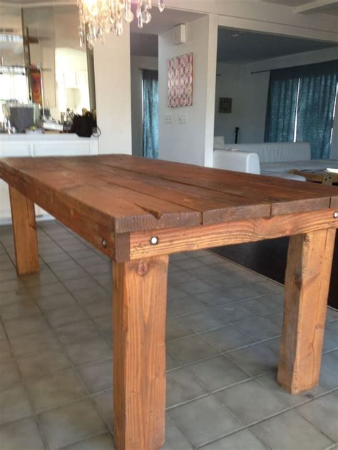 crafted rustic farmhouse dining table by kalani alii