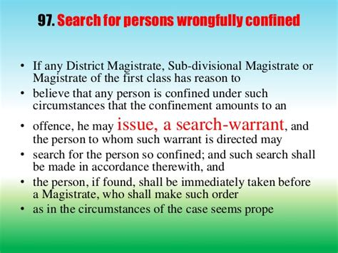 Search Warrant Crpc Powers And Duties Of Executive Magistrates
