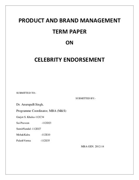 Sle Letter For Product Endorsement Report On Endorsement