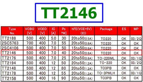 tt2146 datasheet vceo 400v switching transistor sanyo