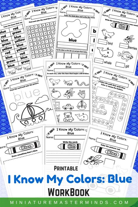 what color is blue books i my colors blue no prep printable workbook