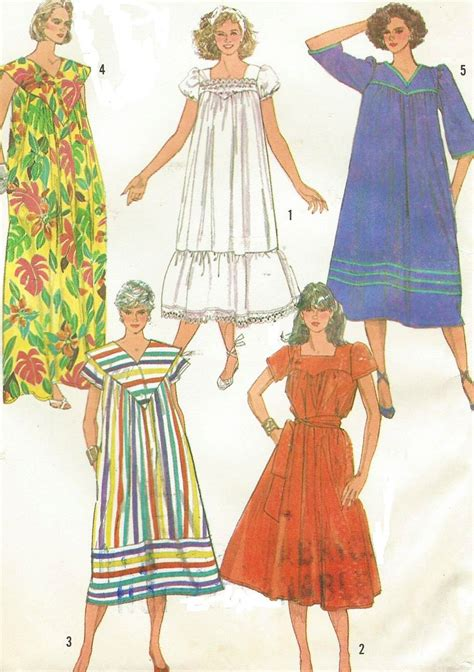 pattern for house dress 80s simplicity sewing pattern 7493 womens easy to sew