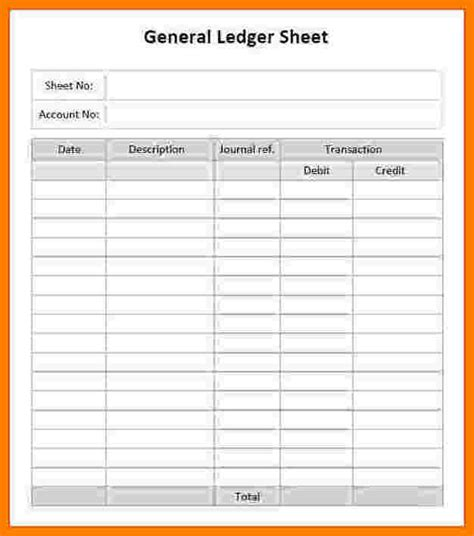 Printable Ledger Paper