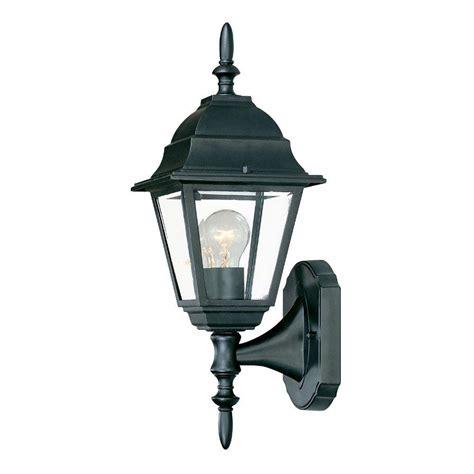 Black Outdoor Light Fixtures Acclaim Lighting Builder S Choice Collection 1 Light Matte Black Outdoor Wall Mount Fixture