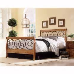 dunhill wood iron bed in pine black by fashion bed