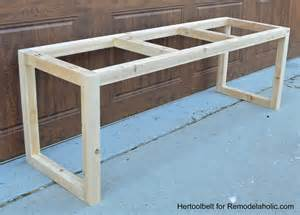 wooden benches diy remodelaholic diy wood chevron bench with box frame