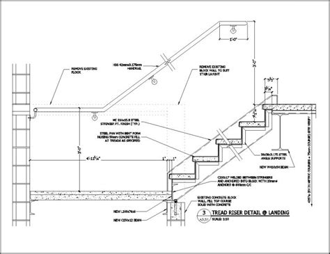 stair section detail dwg wood stair details drawings pictures to pin on pinterest