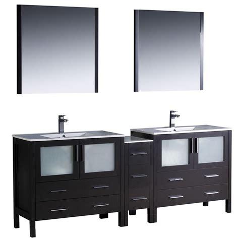 bathroom vanity with side cabinet fresca torino 84 inch espresso modern sink bathroom