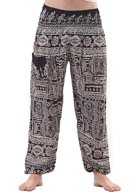 Tribal Pant by Tribal Aztec Harem For In Black And White