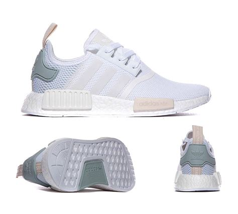 Adidas Nmd R1 Tactile Green White Premium Quality adidas originals womens nmd r1 trainer white tactile